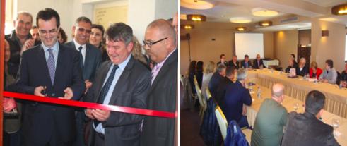 Ministri Agani merë pjesë në inaugurimin e Zyrës së FSSHK-së