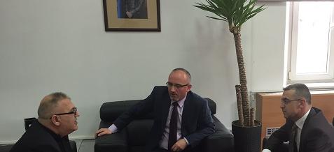 Nënkryetari i parë i FSSHK-së Blerim Delija takon Ministrin e Shëndetësisë Dr. Imet Rahmani