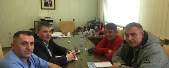 Delegacion  i FSSHK-së në takim me U.D. e Drejtorit të Përgjithshëm të SHSKUK-së