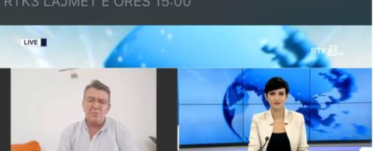 Intervista e Kryetarit te FSSHK-së Dr.Blerim Syla dhënë RTK 3 në emisionin Lajme 15:00 të datës 04.08.2020